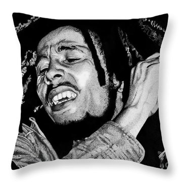 No Woman No Cry Throw Pillow