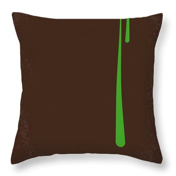 No004 My Alien Minimal Movie Poster Throw Pillow by Chungkong Art
