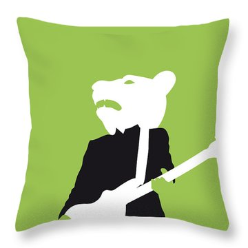 No006 My Teddy Bears Minimal Music Poster Throw Pillow by Chungkong Art