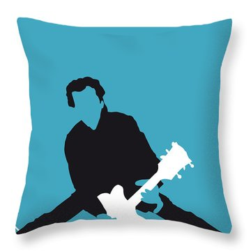 No015 My Chuck Berry Minimal Music Poster Throw Pillow by Chungkong Art