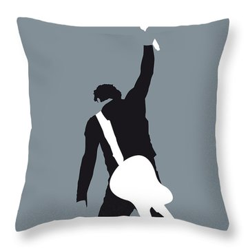 No017 My Bruce Springsteen Minimal Music Poster Throw Pillow by Chungkong Art