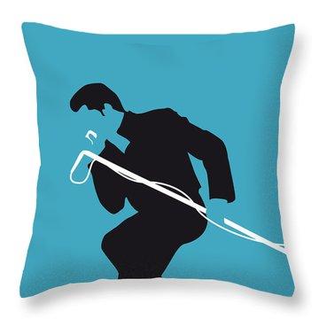 No018 My James Brown Minimal Music Poster Throw Pillow by Chungkong Art