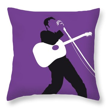 No021 My Elvis Minimal Music Poster Throw Pillow
