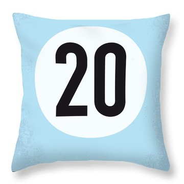 No038 My Le Mans Minimal Movie Poster Throw Pillow