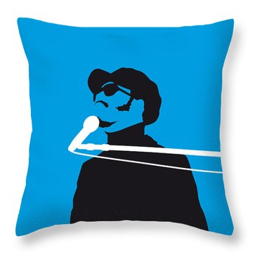 No039 My Stevie Wonder Minimal Music Poster Throw Pillow