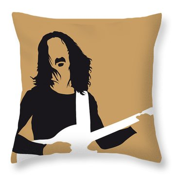 No040 My Frank Zappa Minimal Music Poster Throw Pillow