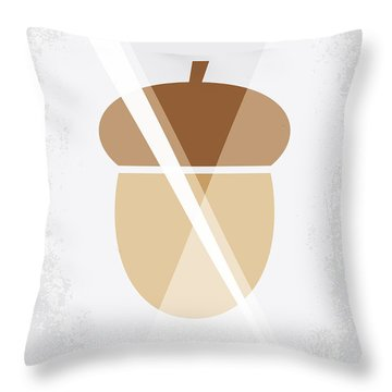No041 My Ice Age Minimal Movie Poster Throw Pillow by Chungkong Art