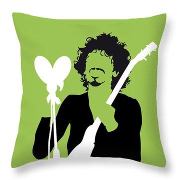 No046 My Santana Minimal Music Poster Throw Pillow
