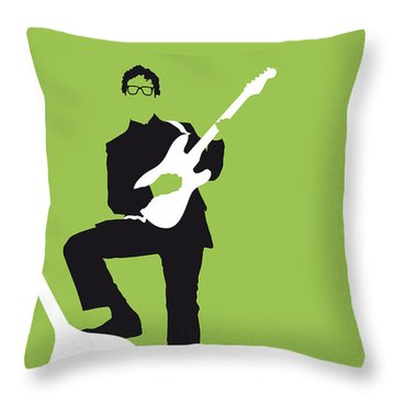 No056 My Buddy Holly Minimal Music Poster Throw Pillow