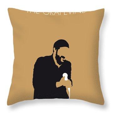 No060 My Marvin Gaye Minimal Music Poster Throw Pillow
