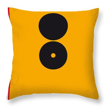 No088 My The American Minimal Movie Poster Throw Pillow by Chungkong Art
