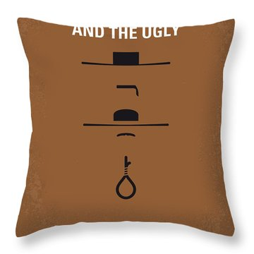 No090 My The Good The Bad The Ugly Minimal Movie Poster Throw Pillow by Chungkong Art