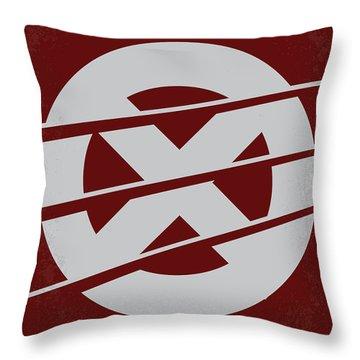 No123 My Xmen Minimal Movie Poster Throw Pillow by Chungkong Art