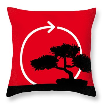 No125 My Karate Kid Minimal Movie Poster Throw Pillow