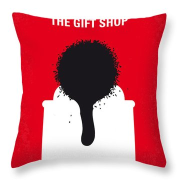 No130 My Exit Through The Gift Shop Minimal Movie Poster Throw Pillow