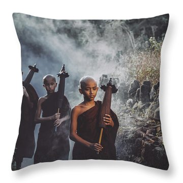 Myanmar Throw Pillows