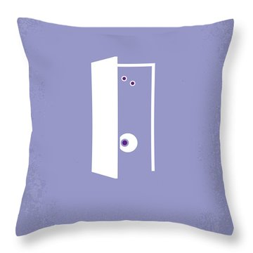 No161 My Monster Inc Minimal Movie Poster Throw Pillow