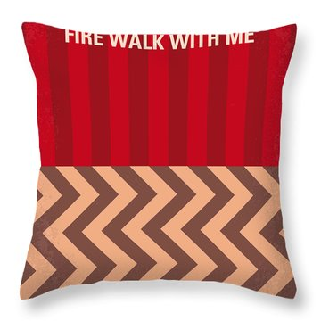 No169 My Fire Walk With Me Minimal Movie Poster Throw Pillow