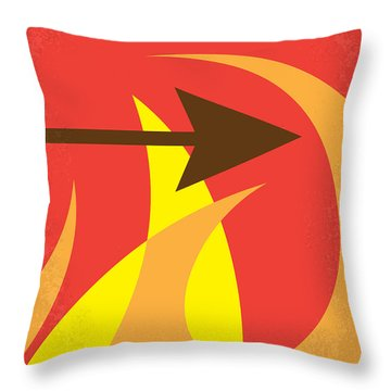 No175 My Hunger Games Minimal Movie Poster Throw Pillow by Chungkong Art