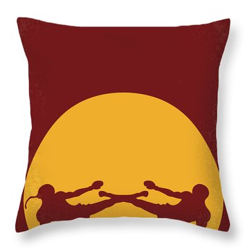 No178 My Kickboxer Minimal Movie Poster Throw Pillow by Chungkong Art
