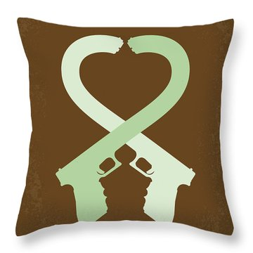 No187 My Mr And Mrs. Smith Minimal Movie Poster Throw Pillow by Chungkong Art