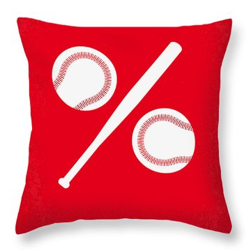No191 My Moneyball Minimal Movie Poster Throw Pillow