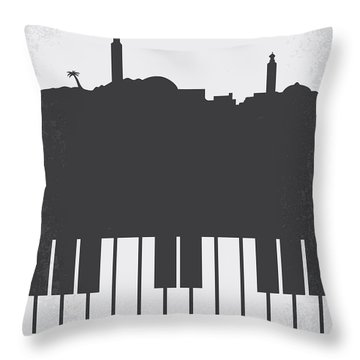 No192 My Casablanca Minimal Movie Poster Throw Pillow by Chungkong Art