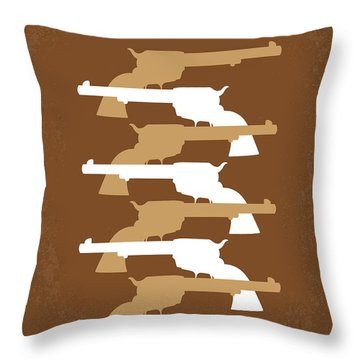 No197 My The Magnificent Seven Minimal Movie Poster Throw Pillow