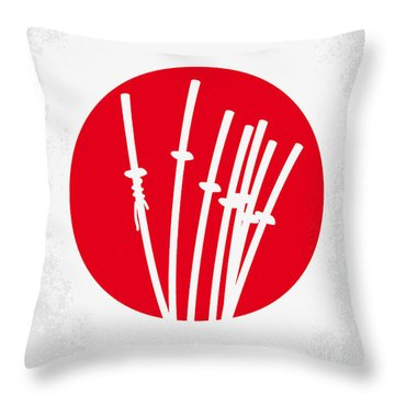 No200 My The Seven Samurai Minimal Movie Poster Throw Pillow by Chungkong Art