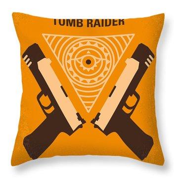 No209 Lara Croft Tomb Raider Minimal Movie Poster Throw Pillow