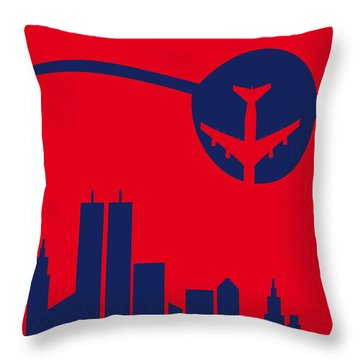 No219 My Escape From New York Minimal Movie Poster Throw Pillow by Chungkong Art