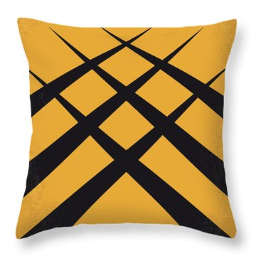 No222 My Wolverine Minimal Movie Poster Throw Pillow by Chungkong Art