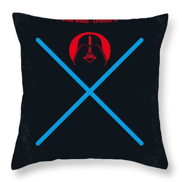 No225 My Star Wars Episode IIi Revenge Of The Sith Minimal Movie Poster Throw Pillow