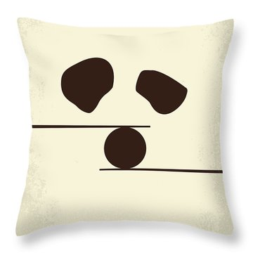 No227 My Kung Fu Panda Minimal Movie Poster Throw Pillow