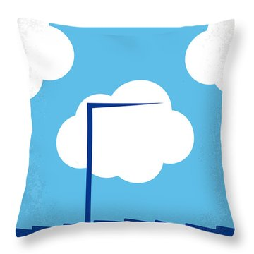 No234 My Truman Show Minimal Movie Poster Throw Pillow by Chungkong Art
