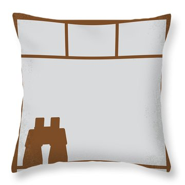 No238 My Rear Window Minimal Movie Poster Throw Pillow by Chungkong Art