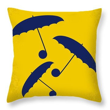 No254 My Singin In The Rain Minimal Movie Poster Throw Pillow by Chungkong Art