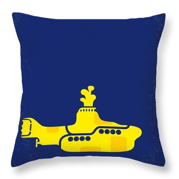 No257 My Yellow Submarine Minimal Movie Poster Throw Pillow