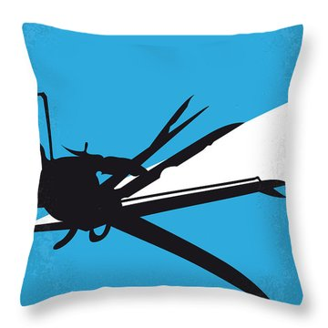 No260 My Scissorhands Minimal Movie Poster Throw Pillow