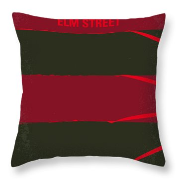 No265 My Nightmare On Elmstreet Minimal Movie Poster Throw Pillow by Chungkong Art
