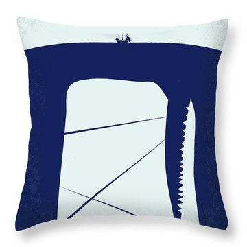 No267 My Moby Dick Minimal Movie Poster Throw Pillow