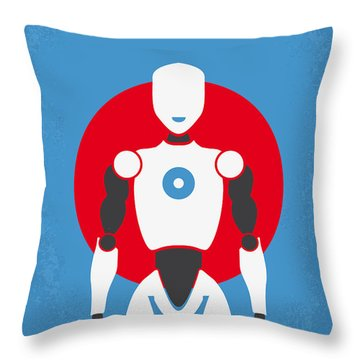No275 My I Robot Minimal Movie Poster Throw Pillow by Chungkong Art
