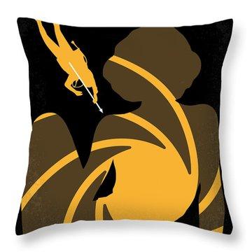 No277-007 My Thunderball Minimal Movie Poster Throw Pillow