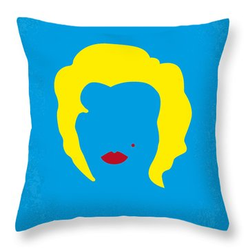 No284 My Week With Marilyn Minimal Movie Poster Throw Pillow by Chungkong Art