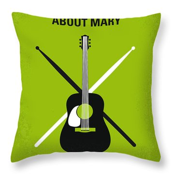 No286 My There's Something About Mary Minimal Movie Poster Throw Pillow