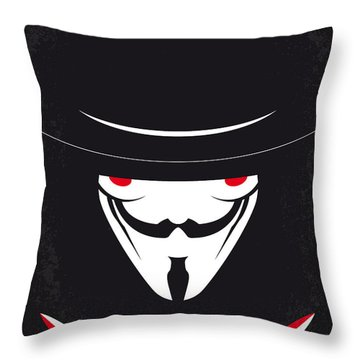 No319 My V For Vendetta Minimal Movie Poster Throw Pillow
