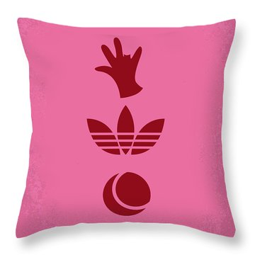 No320 My The Royal Tenenbaums Minimal Movie Poster Throw Pillow