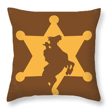 No322 My Rio Bravo Minimal Movie Poster Throw Pillow by Chungkong Art