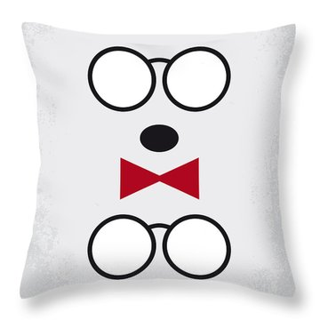 No324 My Mr Peabody Minimal Movie Poster Throw Pillow