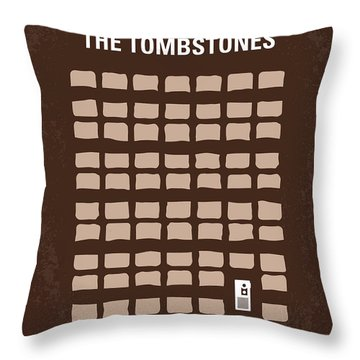 No341 My Walk Among The Tombstones Minimal Movie Poster Throw Pillow